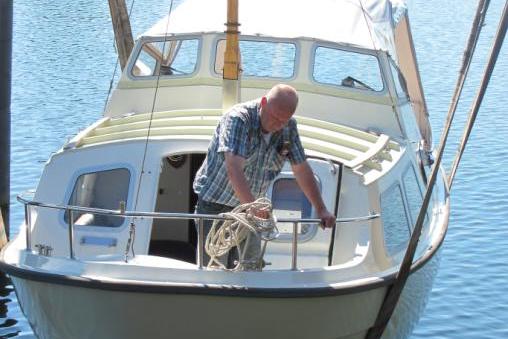 systeem mast laten strijken van motorboot